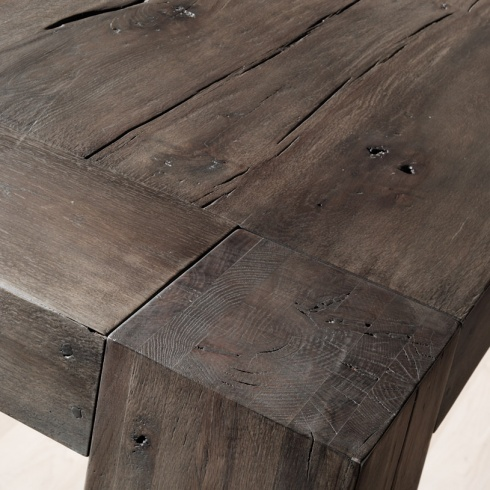Empire solid oak distressed dining table grey 22jpg